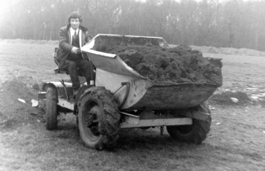 St. Judith's Archaeological Dig Sawtry.(Harry Milford in charge of the dumper truck.)