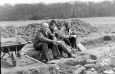 St. Judith's Archaeological Dig Sawtry.(Time for a cuppa.)