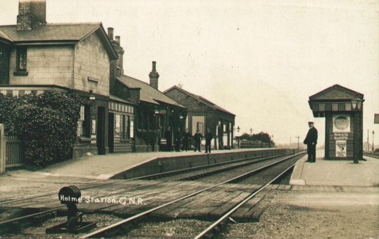 Railway Station Holme. Holme Village c1910