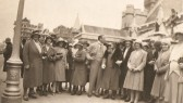 Sawtry W I, Outside the houses of Parliment with Huntingdon M.P. Dr. Peters.