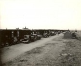 Goods wagons being unloaded by American troops, near Holme Station. (Part of OSS operations at Site H in Holme Village.)