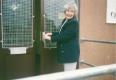 Organiser Kathy Jones at Caresco's new building in Sawtry. (Opening the door for the 1st time.)