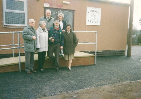 Members of the Committee at Caresco's opening of the new building in Sawtry.