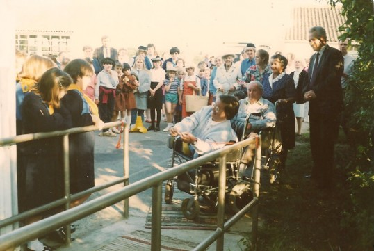 Sue Holliday, the first wheelchair access to Caresco, in Sawtry.