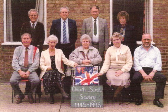 50th anniversary end of WW2 street party, reunion of residents of Church Street Sawtry.