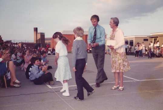 Last days of the Junior School in the Old School Hall Sawtry.