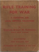 A book belonging to Mr Bennett a Sawtry resident during WW2. (Hope he did the training)