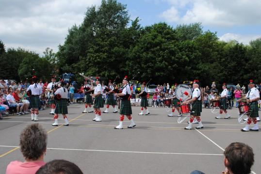 Sawtry Carnival, Peterborough Pipe Band display.