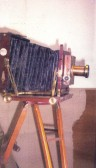 Camera belonging to Percy Slater, photographer of Sawtry. Camera was used by Percy in early 20th century.