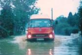 Flooding in Sawtry Road Glatton.