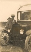 Frank Woodbridge Carrier of Sawtry, with his new Ford Motor. (No horses now)