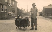 Wally Sisman dressed as a tramp,for the Coronation of George 6th celebrations in Sawtry.