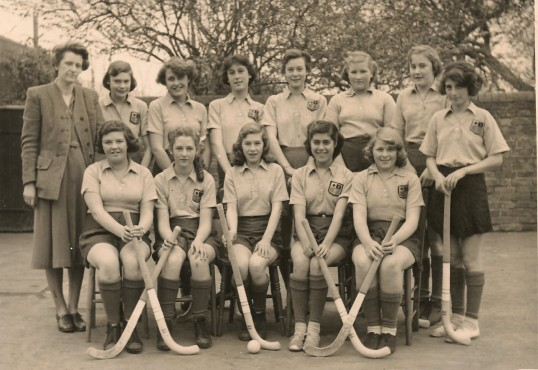 Sawtry Council School.Champions of the County 1957.