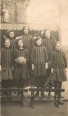 Sawtry Council School, netball team. (wearing the boys shirts ,could't afford two lots of shirts.)