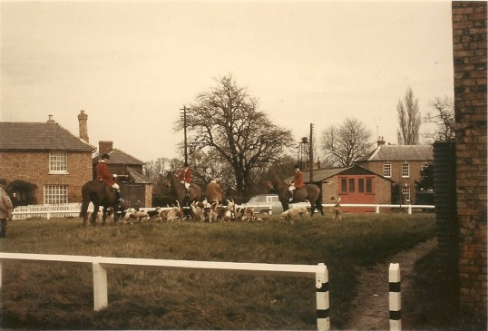 Fitzwilliam Hunt on the Green Sawtry.