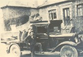 William Spriggs coal merchant, outside the W I building Gidding Road Sawtry.