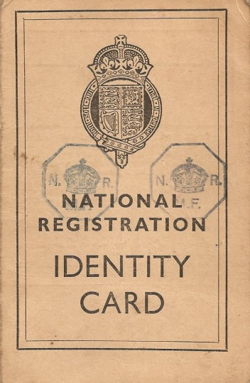 Front cover of Brian Parker's ID card.