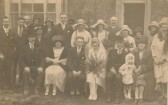 Wedding of Mildred Woodbridge and Andrew Reid, in Sawtry.