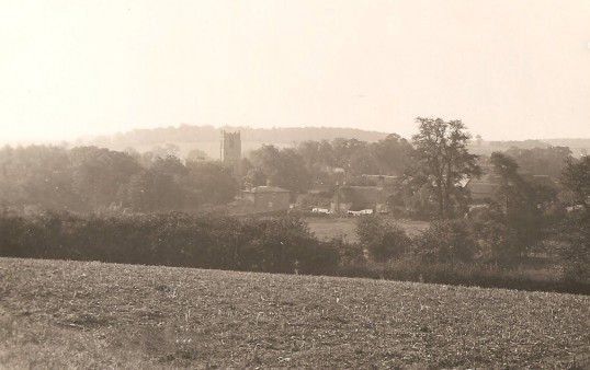 View of St. Nicholas Church Glatton, from Mill Hill.