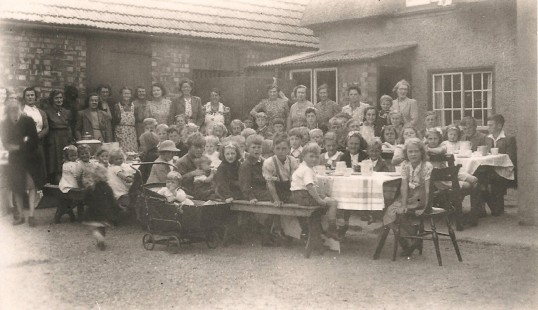 The Sawtry Village VE Day party, to celibrate the end of the war in Europe.