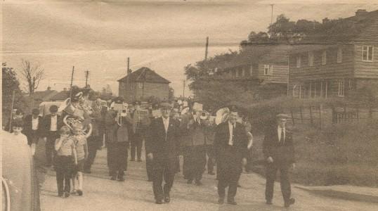 Feast Parade in Fen Lane Sawtry.