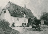 The Savage family outside their cottage, corner of Sawtry Road & Infield Road Glatton.