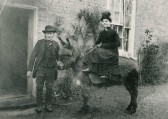 John & Elizabeth Savage, out side their Post Office 11 Infield Road Glatton. He was the Postmaster.