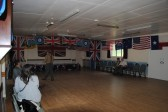 1940s Weekend in Holme Village. The Village Hall ready for the 40s Dance.