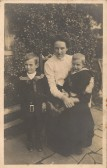 Eliza Hall of Conington with her children.