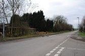 Beging of a new development of new houses in Gidding Road Sawtry. Junction with Deer Park Road.