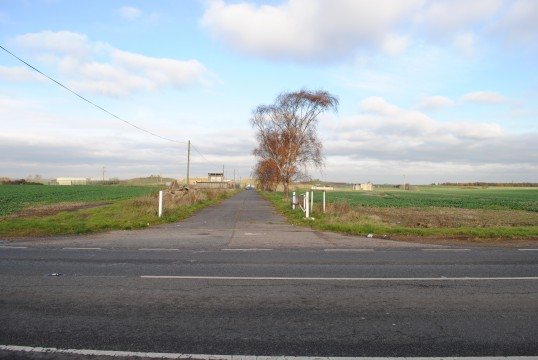 Prisoner of war camp,Wood Walton Lane Sawtry. The Camp was each side of the road.
