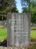 Heinrich Danzer Glatton prisoner of War 1914-1918. Headstone at Cannock Chase German Military Cemetery.