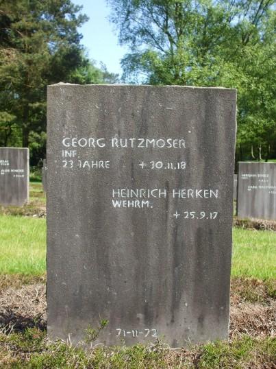 Georg Ruztmoser Glatton prisoner of War 1914-1918. Headstone at Cannock Chase German Military Cemetery.