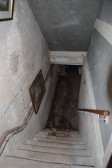 Original staircase leading to the cellar at Whitehall Sawtry.