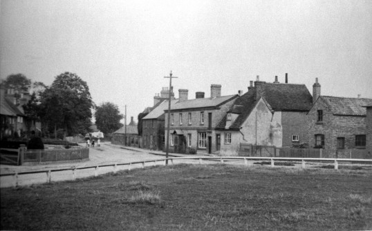 High street Sawtry, from the Green.