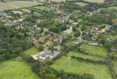 Aerial view of Glatton Village.