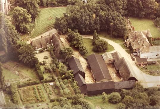 Aerial view of Church Cottage,Glatton. (Rear view)