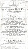 Catalogue of the sale of The Glatton Hall Estate. Glatton Village.
