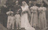 Muriel Stanyon marries Rev'd Cyril Laycock,at the Methodist Chapel, Sawtry.