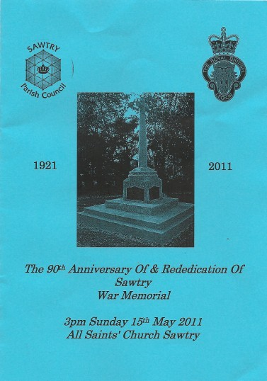 90th Anniversary & Rededication of Sawtry War Memorial.