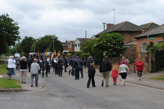 90th Anniversary & Rededication of Sawtry War Memorial.(Parade getting ready to move off.)