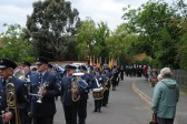 90th Anniversary & Rededication of Sawtry War Memorial.(Parade arrives at All Saints Church, Sawtry.)