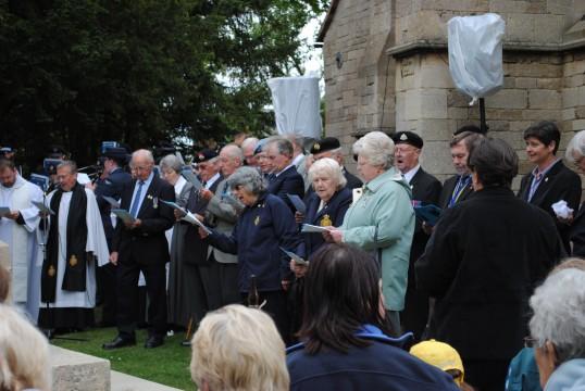 90th Anniversary & Rededication of Sawtry War Memorial.(Everyone singing joyfully.)