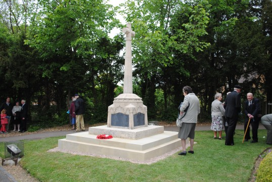 90th Anniversary & Rededication of Sawtry War Memorial.(End of the Rededication Ceremony.)
