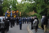 90th Anniversary & Rededication of Sawtry War Memorial.(Parade prepares to move off at the end of the Service.)
