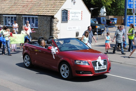 Sawtry Carnival Parade and Celibrations. (Carnival Prince & Princess)