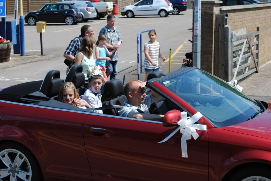 Sawtry Carnival Parade and Celibrations (Carnival Prince & Princess Alfie Selmes & Jade Smythers).