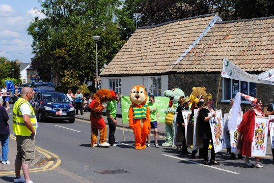 Sawtry Carnival Parade and Celibrations.