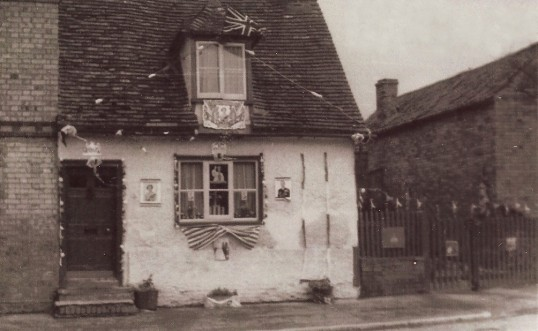 Number 10 the High Street Sawtry. (Winning 1st prize for best decorated house for the Coronation of Queen Elizabeth 2nd)