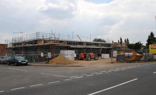 The Co-op's new store being built at Glatton Road Sawtry.
